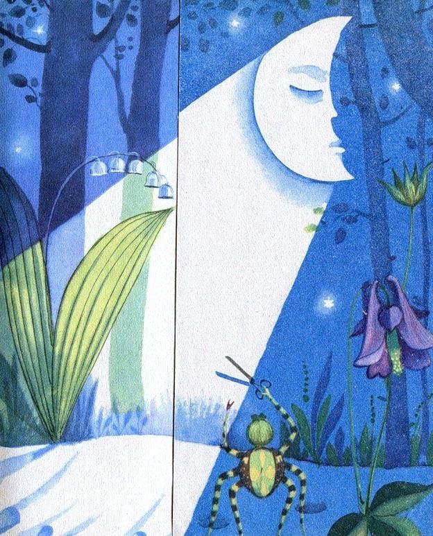 Victor Pivovarov Spider and Moonlight Виктор Пивоваров Паучок и лунный свет