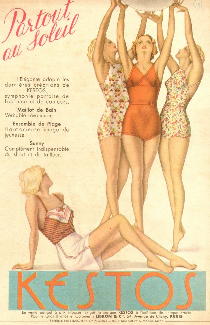 vintage swimwear fashion | Glamourdaze