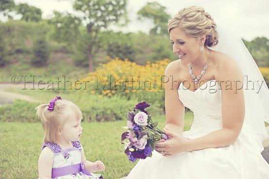 Heather Martin Photography- purple flower girls dress, purple bridal bouquet, purple wedding flowers