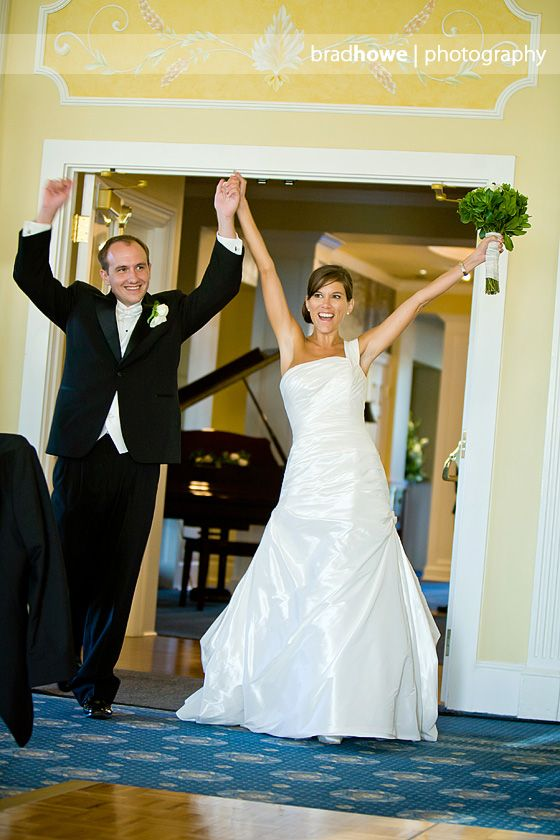 Newlyweds introduced at a wedding reception at Two Rivers ...
