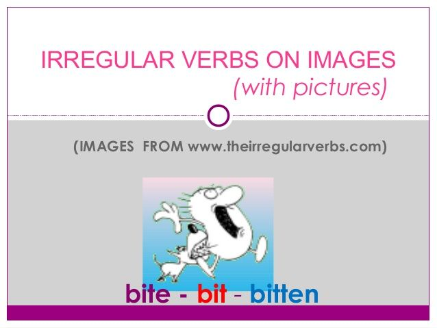 images from  theirregularverbs com irregular verbs on