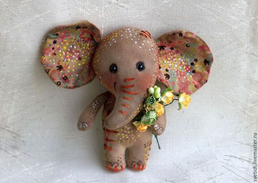 Scented doll handmade.  Fair Masters - handmade.  Buy Elephant.  Handmade.  Brown, elephant handmade coffee