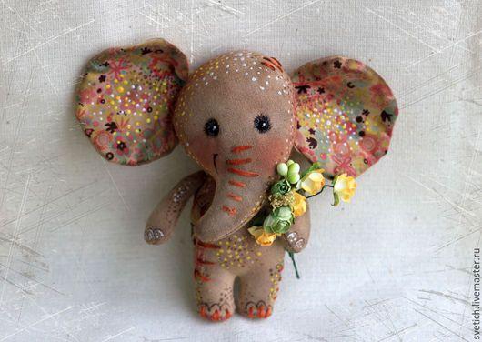 Scented doll handmade.  Fair Masters - handmade.  Buy Elephant.  Handmade.  Brown, elephant handmade coffee