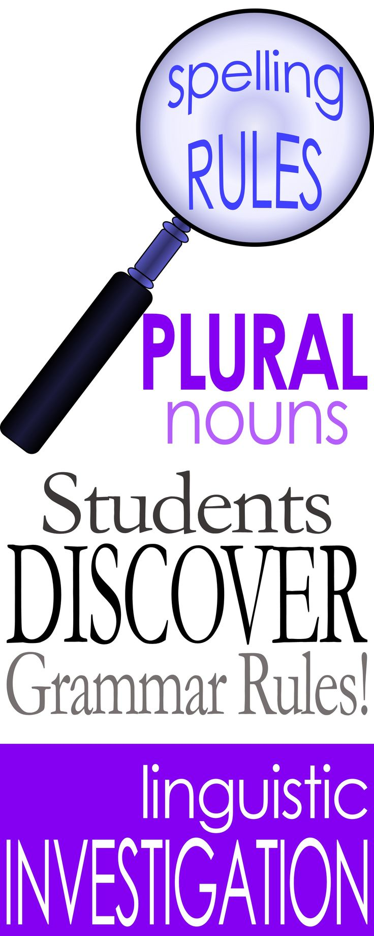 Students discover spelling rules for regular plural nouns.  Great for adult ESL!