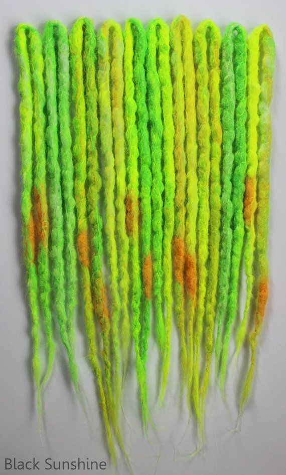 Citrus Punch DE Crochet Synthetic Dreads x 10 by blacksunshineiow, £19.99 //STILL DOUBTING TO BUY THESE