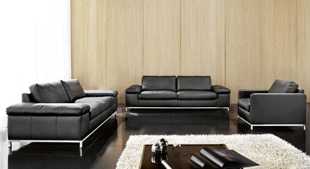 Comfort leathers sofa - black more http://www.calunenie-eddyart.sk/