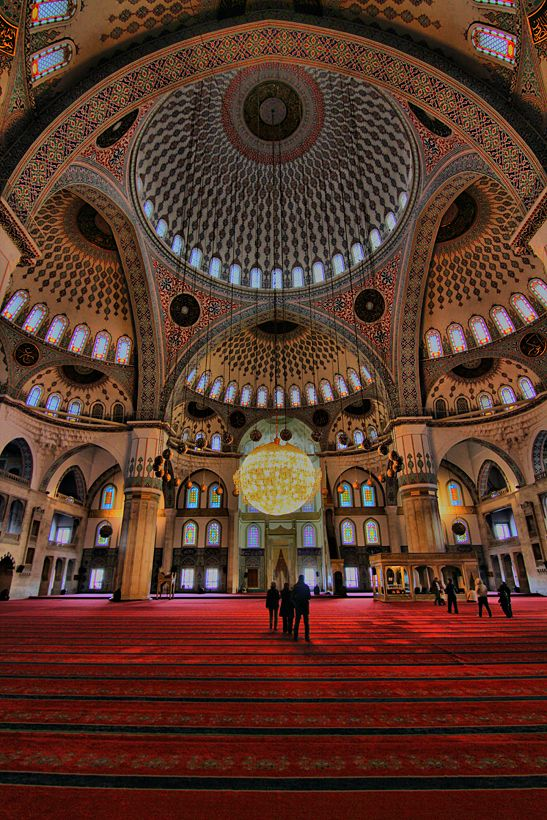 """This is the biggest mosgue named """"Kocatepe"""" in Ankara that the capital city of Turkey."""