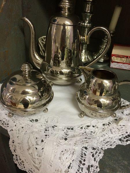 Kaffee- & Teekannen - Tee-/Kaffeekanne-Set, alt - ein Designerstück von Vintage-WohnLaden bei DaWanda