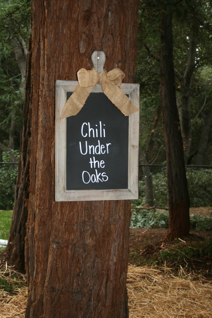 Outdoor Fall chili party via bloom designs