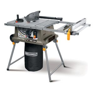 Rockwell's 10-inch job-site table saw is designed for anything that might occur during a remodeling job. It's got a 30-in. fence capacity, allowing it to rip a sheet of plywood in half. Its blade extends up to 3-9/16 in. above the table, allowing it to cut a 4 x 4 in one pass. Equip the saw with the Rockwell Finisher accessory ($130), & you can plane the saw marks of a piece of lumber up to 3-1/8 in. thick and 11 in. wide. The saw itself costs $350. http://www.rockwelltools.com