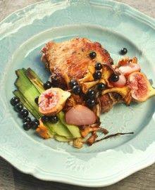 pork, figs and leek