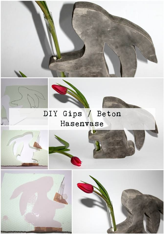 78 best deko mit gips beton und ton images on pinterest for Deko ostern