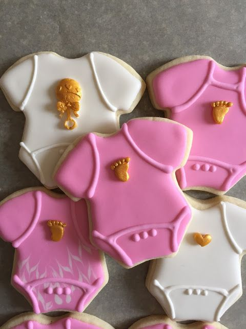 The Perfect Bite Bake Shoppe : Baby Girl Cookies