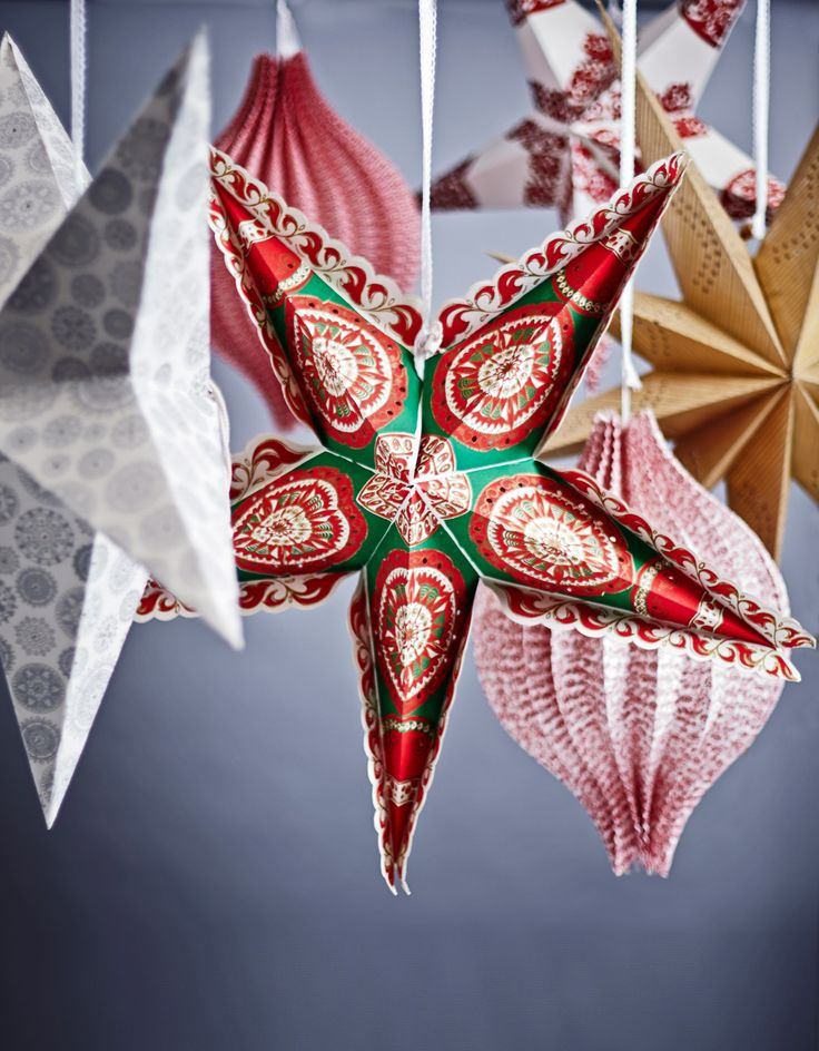 Paper star decorations by Carolyn Donnelly Eclectic