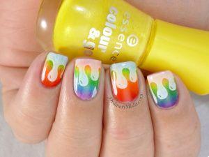31DC2014 Day 09: Rainbow nails