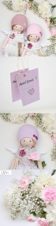 #ULAdesign #aniolki #różowy #coreczka #girl #decoration #sewingproject #handmade #sewing #szycie #skrzydła #wings #home #doll #dolls #lalka #lalki #kwiaty #gozdziki #brudnyroz
