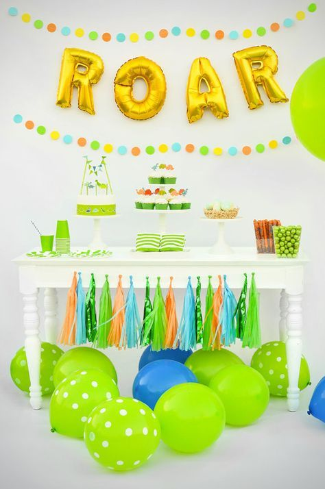ROAR! Yep, that feels good. If you are looking for some great dinosaur birthday party ideas then you are in the right place. Hunting around like a