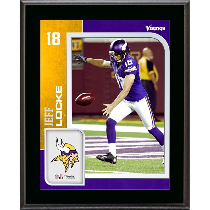 Jeff Locke Minnesota Vikings Fanatics Authentic 10.5'' x 13'' Sublimated Player Plaque - $23.99