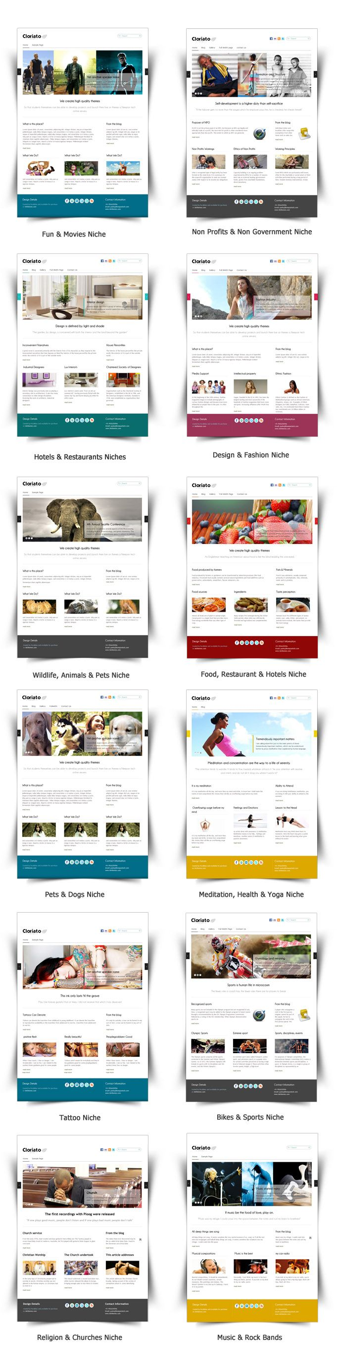 Grab it fast only $ 45 Cloriato Theme Cloriato WordPress Theme is available in 6 different colors schemes. Cloriato Theme can be used to built websites in various different Niches very easily.