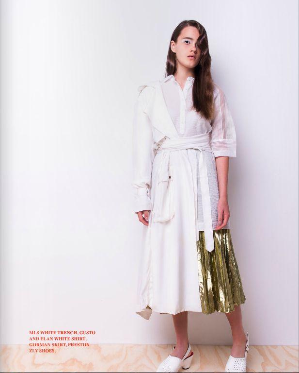 Camille White leather Clog  Limited Edition handmade shoes by Preston Zly http://prestonzly.com/collections/towards-wearable-abstraction/camille/  #Editorial  @kneonmagazine #kneon12 #p. @carmenrosephotographer #m. @rosefreemantle @chadwickmodels #h. @salonbabyhair #mu. @sheranazmi #styling. #meofcourse @chantelleasciak #designers #australiandesigners @gormanclothing @prestonzly @gustoandelan @michaellosordo 