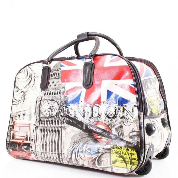 Fashion Women Wheeled Trolley Luggage Weekend Holidays Ladies Travel Holdall Bag #Clicktostyle #TrolleyBag