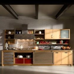 Cucina in stile post-industriale