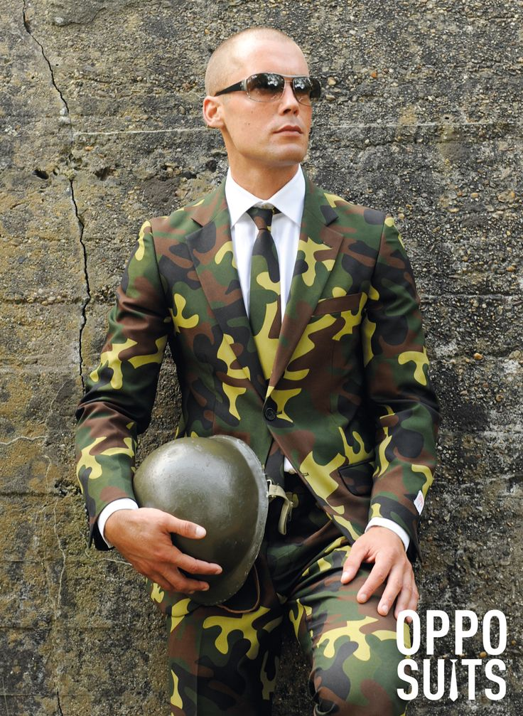 Commando jakkesæt. Flot jakkesæt i militær design. #jakke #herremode #partybutikken