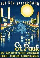 Искусство-Ad-Санкт-Паули-Гамбург Германия Путешествия Ad Вид Красоты Немецкий…
