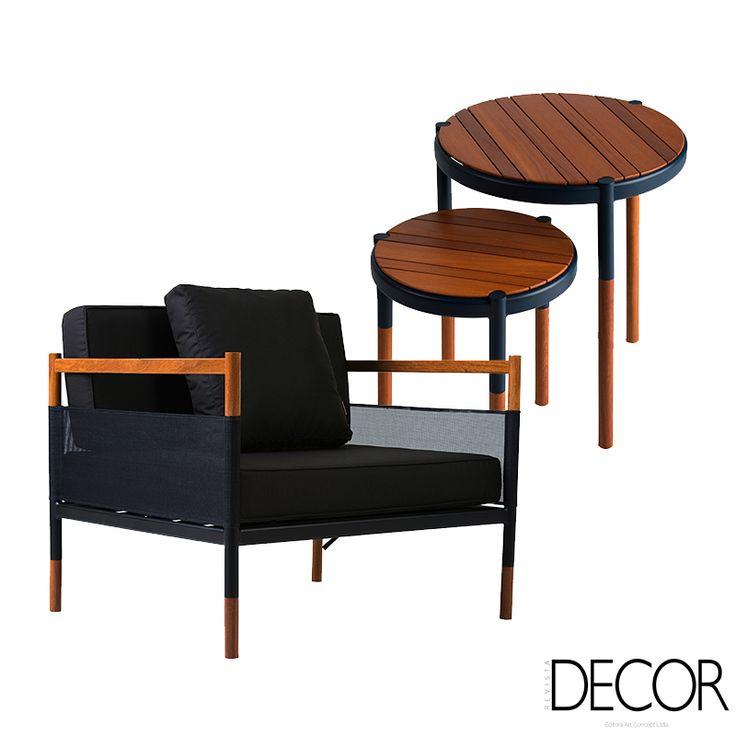 Assinadas pelo estúdio de design Adolini & Simonini, a poltrona e a mesa lateral redonda Skyfolding marca a comemoração aos 50 anos da Breton e remetem a métodos construtivos típicos da Ásia.