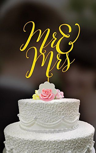 Mr & Mrs Wedding Cake Topper | Gold metallic cake topper ... https://www.amazon.com/dp/B01FVJ9AIM/ref=cm_sw_r_pi_dp_wsiIxbPJHW34B