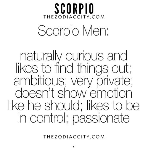 Zodiac Scorpio Men. For more interesting facts on the zodiac signs, click here.