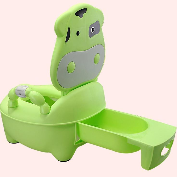 Kids Toddler Throne Pee Potty Seat Toilet Training Removable Lid Green