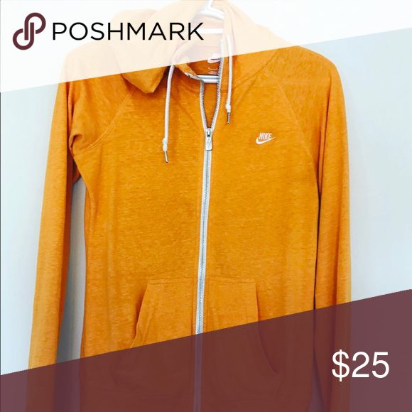 Nike zip up hoodie Orange Nike Women's hoodie Nike Tops