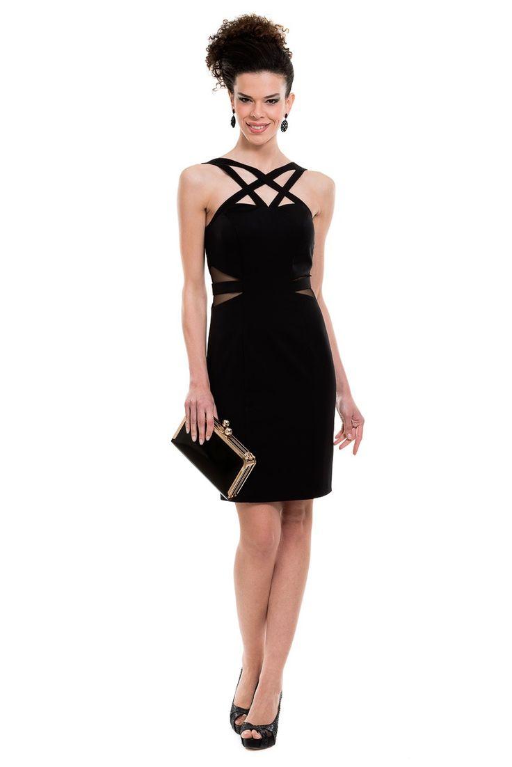 Kısa Siyah Abiye Elbise C2152