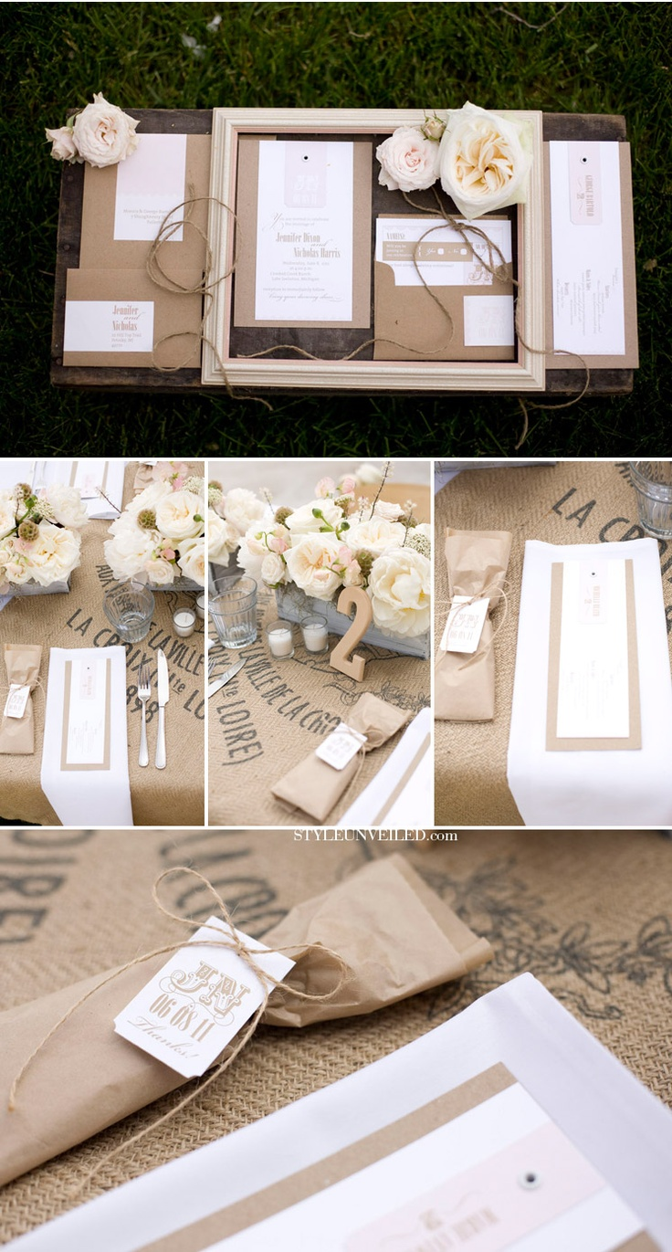 Rustic country wedding details.