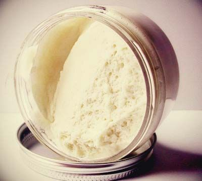 DIY Whipped Body Butter...No preservatives. It has natural anti inflammatory properties, it will naturally help to fade scars, treat eczema, burns, rashes, acne, severely dry skin, skin discoloration, stretch marks, wrinkles, lessens the irritation of psoriasis, has a natural SPF of about 6, is loaded with vitamins A, E and F and much more!