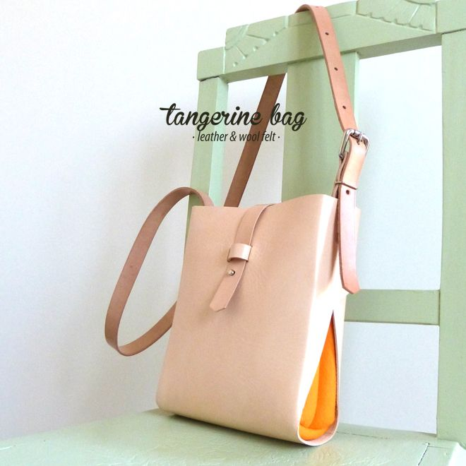 TANGERINE [S] bag · leather & wool felt http://marieladias.tictail.com