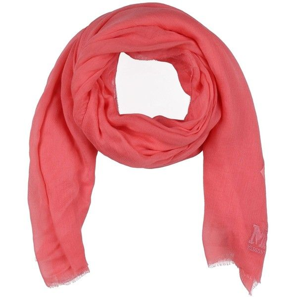 M Missoni Scarf ($234) ❤ liked on Polyvore featuring accessories, scarves, coral and m missoni