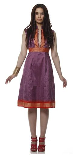 sari dresses - beautiful - be nice to have a slightly fuller skirty
