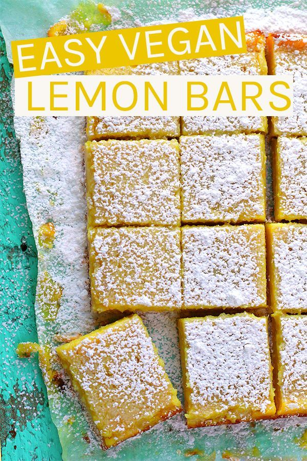 These vegan Lemon Bars are made with a buttery sho…