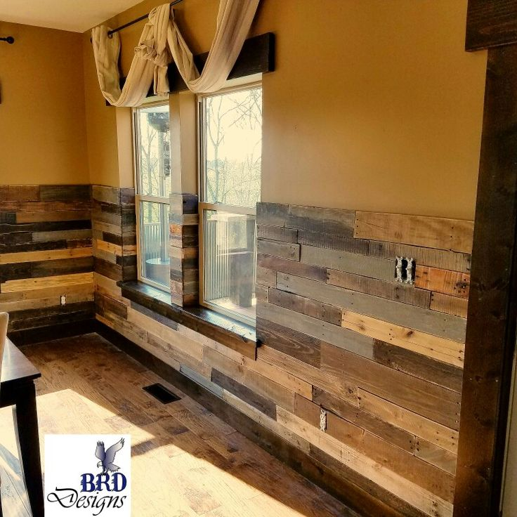 Rustic pallet wainscoting                                                                                                                                                                                 More