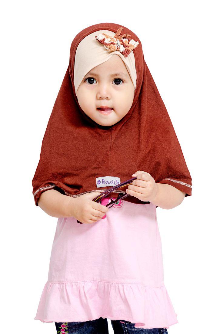 Jilbab Anak, Kerudung Anak, Grosir Jilbab - Basith Collection TURBAN BUTTERFLY Perpaduan Turban dan Jilbab yang Simpel dengan Rajutan Handmade