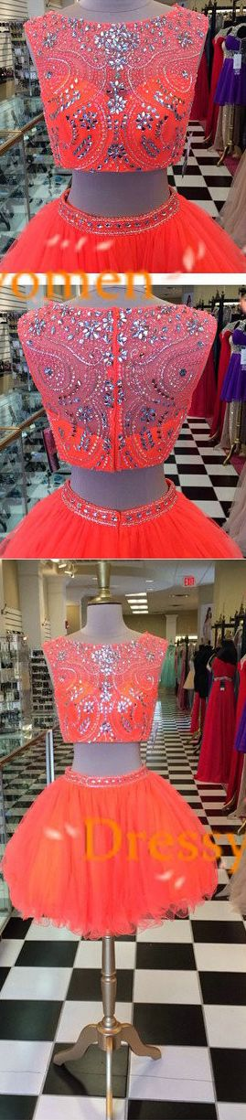 Sexy Two Piece Homecoming Dresses, Sexy Two Piece Cocktail Dresses, Sexy 2 piece homecoming dresses, Cheap Homecoming Dresses, 2016 Homecoming Dresses