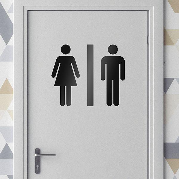 Vinilos Decorativos: Iconos WC