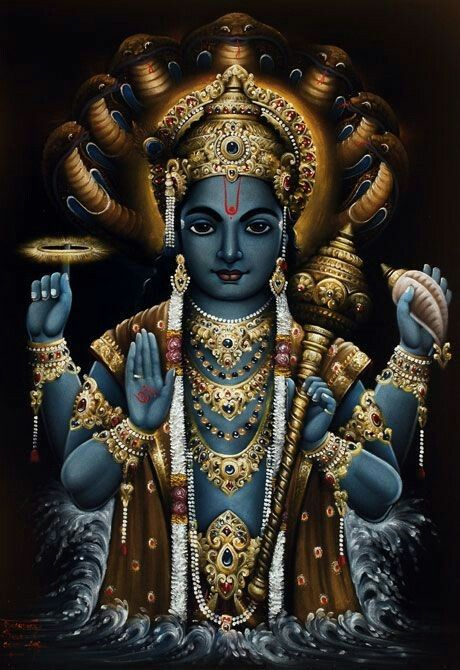 Lord Vishnu … | hindu god | Pinterest | Lord vishnu, Lord ...