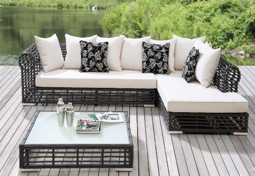 The Vienne Collection All Weather Wicker Patio Furniture Sectional . $3203.00