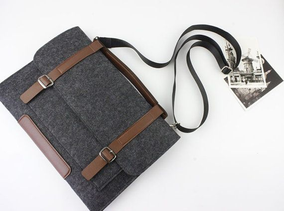 Strap felt Microsoft Surface Pro 2 sleeve Surface 3 by FeltSJie