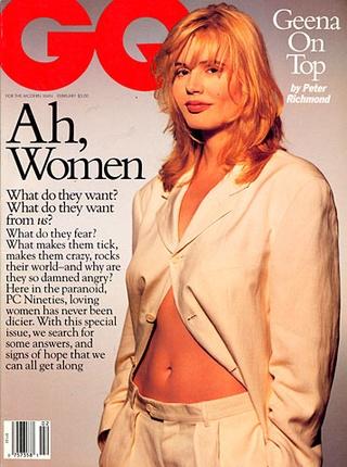 Geena Davis - Février 1994    GQ France onto Les filles du Vendredi