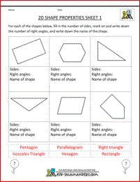 3rd grade math practice 2d shape properties 1