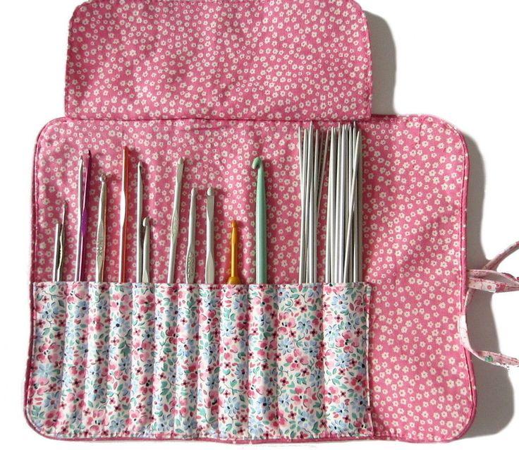 Télécharger Tutoriel gratuit de la trousse pour ranger vos crochets - Patrons et tutoriels de couture tout de suite sur Makerist
